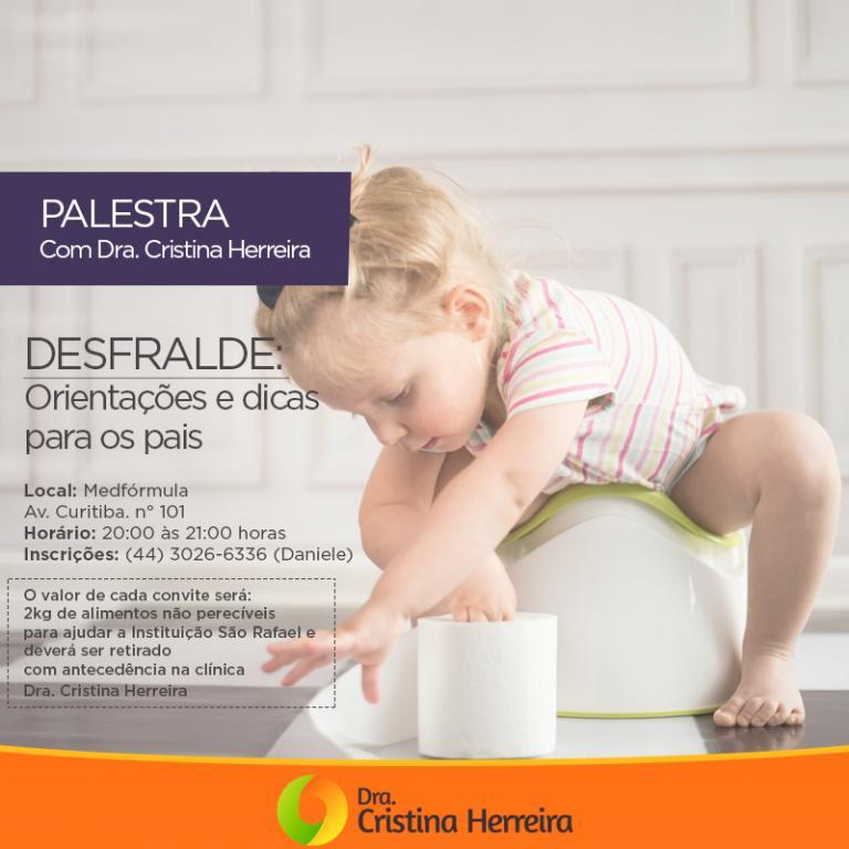 Desfralde: palestra com Dra. Cristina Herreira